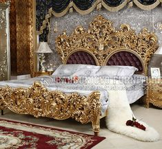 Bedroom classic luxury pillows ideas for 2019 Fancy Bedroom Sets, Luxury Bedroom Sets, Royal Bedroom, Trendy Bedroom, Luxurious Bedrooms, Classic Bedroom Furniture, Royal Furniture, Bedroom Furniture Sets, Luxury Furniture