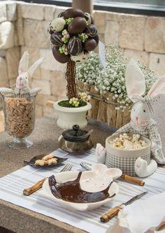 Decoração delicada para a Páscoa. #páscoa #easter #decor #bunny #detalhes