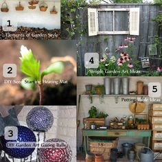 Garden art DIY and ideas to bring bling, pop!, and beauty to yours.