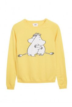 Yellow Moomin & Snork Maiden Embrace Cashmere Sweater