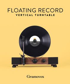 Gramovox Floating Record Vertical Turntable Vinyl Record Player | Built in Chicago
