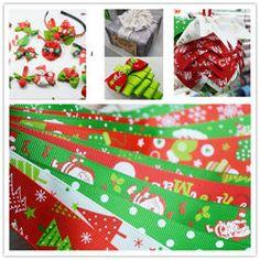 Рождественские ребра ремня лямки ленты лук шпилька ювелирных изделий ручной работы DIY материалы оптом 1 ярд