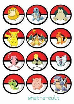 Items similar to 36 pokemon cake topper /cupcake/muffin - mini game - digital printable file- birthday on Etsy Pokemon 24, Festa Pokemon Go, First Pokemon, Pokemon Party, Pokemon Birthday, Pokemon Cupcakes Toppers, Edible Cupcake Toppers, Edible Cake, Cupcake Ideas