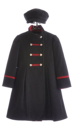 Picture of Rothschild Miss Military Wool Coat 2T-4T, a Girls Coat ...