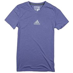 Adidas Youth Big Girls Ultimate Athletic V-Neck Tee ** You can find more details by visiting the image link. (This is an affiliate link) #Shirts
