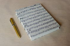 Music Notebook Sketchbook or Journal // Coptic by scribbleandjot