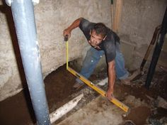 Installing drainage system in the existing section of the basement