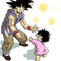 Goku and Pan #SonGokuKakarot - Visit now for 3D Dragon Ball Z compression shirts now on sale! #dragonball #dbz #dragonballsuper