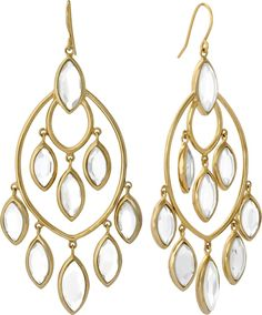 Charm & Chain | Mirror Glass Marquise Earrings - Earrings - Jewelry