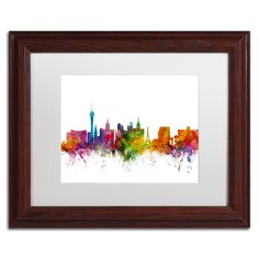 Las Vegas Nevada Skyline by Michael Tompsett Framed Graphic Art