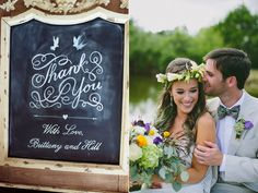 chalkboard wedding signs - photo by Amber Vickery Photography http://ruffledblog.com/texas-wedding-with-new-orleans-flair