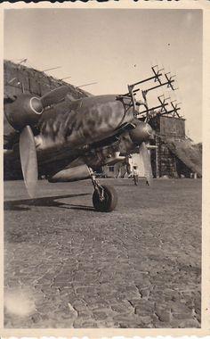 Foto Luftwaffe Flugzeug Me 110 F-2 FuG 202 Lichtenstein 9./NJG 3 Lüneburg 43 | eBay