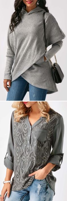 grey tops for women, grey tops for fall