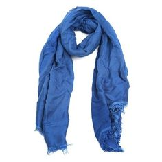 Faliero Sarti 'Arianna' Silk and Linen Blend Scarf (€215) ❤ liked on Polyvore featuring accessories, scarves, blue, blue scarves, silk shawl, faliero sarti scarves, faliero sarti and pure silk scarves