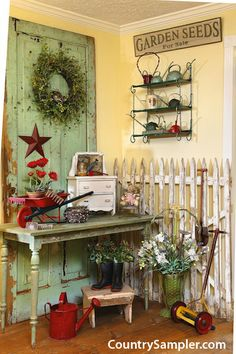 A Simple Way To Add Fresh Farmhouse Style Is Incorporate Picket Fencing Or Old Doors