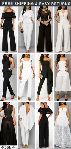 05832458d13d White Jumpsuit   Black Jumpsuit. Our 2019 Spring Summer guide is here!  Completi Business Casual