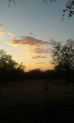 Sunset on farm in Tsumeb.  Image: Colette Vermaak
