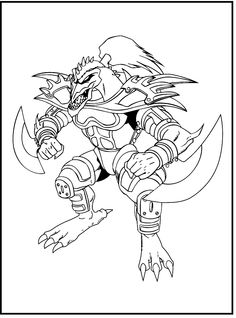 Monster Sword Yu-Gi-Oh coloring picture for kids