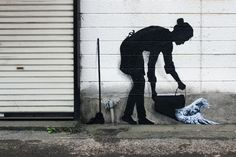 Pejac's playful paintings on the streets of #Tokyo pay tribute to Japanese culture. #streetart