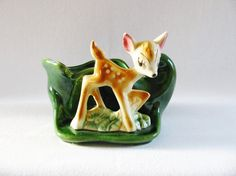 Vintage Bambi Planter Deer Planter Mid by HipCatRetroVintage  https://www.etsy.com/listing/213062994/vintage-bambi-planter-deer-planter-mid?ref=shop_home_active_4