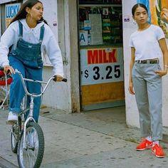 nike campaign Nike Cortez Campaign Modelled B Nike Outfits, Estilo Chola, Nike Street Style, Vestido Charro, Nike Campaign, Estilo Hip Hop, 90s Fashion, Fashion Outfits, Cholo Style