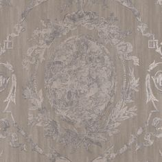 Abbeywood Damask - Pewter - Archival English Papers II - Wallcovering - Products…