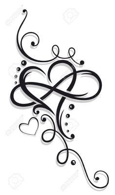 Image result for tatuaje corazon infinito