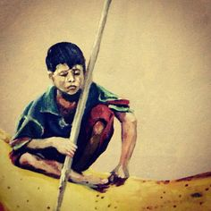 Boy, pintura, niño