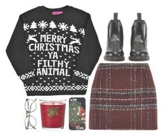"""Untitled #129"" by tamara-xox ❤ liked on Polyvore featuring Boohoo, River Island, Lux, Dr. Martens, happyholidays, Christmas2015 and tamarasholidaycollection"