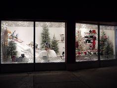 Amazing Christmas window display at IQ Living in Toronto