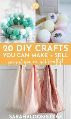 Turn your hobby into a side hustle with these 20 Best DIY Crafts to Make and Sell for Extra Money! #sidehustles #makemoney #diycrafts #craftstomakeandsell Crafts To Make And Sell, Easy Diy Crafts, How To Make Money, Sell Diy, Homemade Crafts, Shop Up, Make Blog, Printable Designs, Extra Money