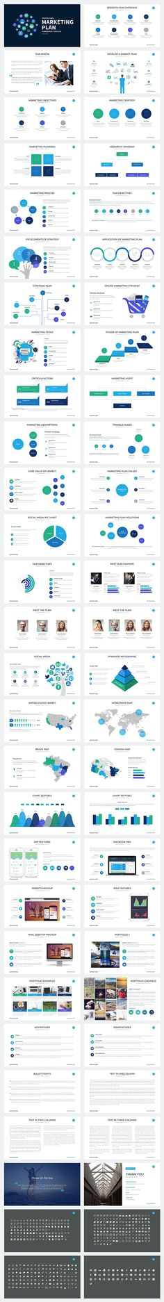 Marketing Plan Powerpoint Template by SlidePro on @creativemarket