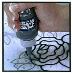 Plaid:Craft Gallery Glass Liquid Leading 8 oz, Black