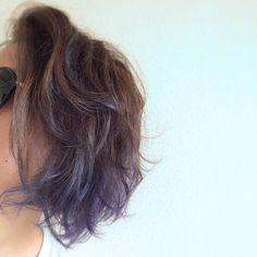 hair colour blue&silver