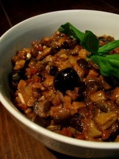 "Caponata, ""the real one"" because unlike the one I published last year, this one is taken from the book ""The silver spoon"", page published by ""Phaidon"". This book is considered a reference in Italian cuisine, well … Easy Salads, Healthy Salad Recipes, Vegetable Recipes, Easy Meals, Vegetable Salad, Happy Cook, Italian Vegetables, Pasta Carbonara, International Recipes"