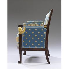 Armchair Place of origin: Paris (made) Date: ca. 1805 (made) Artist/Maker: Jacob-Desmalter (maker) Materials and Techniques: Mahogany, with chased and gilt mounts, seat rails of beech, and modern upholstery European Furniture, Victorian Furniture, Antique Furniture, Sofa Seats, Sofa Chair, Armchair, Best Interior, Interior Design, Museum