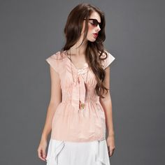 Fab.com | Miramichi Blouse Orange Stripe by Suzabelle