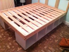 Raised bed with storage.  Add baskets to openings.