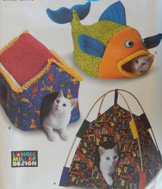 Cat Bed Sewing Pattern/ Simplicity Crafts 9004 Longia Miller Design/ Tent…
