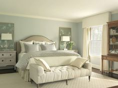 The colors of a space probably have the largest initial impact on how you feel in that space. Are the colors soft and dreamy? Are they bold and vibrant? Are they muted and serene? The bedroom is a wonderful place to introduce a color scheme that fits the mood you want to feel most while you're there. #BeautifulBedroom #bedroomcolor #bedroomcolorschemes