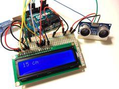 Arduino ultraschall entfernungsmesser mit i²c lcd display