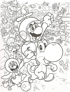 With this one I tried to give an old school look to New Super Mario Bros. New Super Mario Bros. Adult Coloring Pages, Super Mario Coloring Pages, Abstract Coloring Pages, Pokemon Coloring Pages, Cartoon Coloring Pages, Disney Coloring Pages, Colouring Pages, Printable Coloring Pages, Coloring Sheets