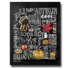 Fall Decor Fall Word Art Fall Art Chalkboard Art by TheWhiteLime