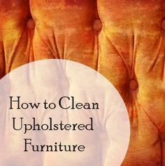 Clean upholstered furniture tips.  Good to know.  I didn't know about the code...