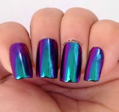 Uma's Nail Art: Ostar Chameleon Mirror Powders - Jade in Violet, Mermaid Blush and Vintage Rose Review and Swatches..