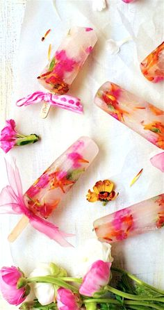 ~Spring Pirouettes~ Spring Flower Popsicles  #May_Recipe