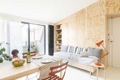 Hlavnou výzvou tejto rekonštrukcie bolo vdýchnuť malému apartmánu s rozlohou 28 štvorcových metrov život a opticky ho zväčšiť.