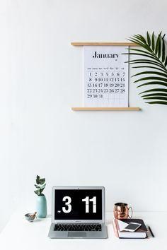 DIY Calendar Wall St