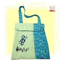 Musiktasche, Notentasche, Flötentasche von Die tapfere Schneiderin, handmade with love ... by Viola auf DaWanda.com
