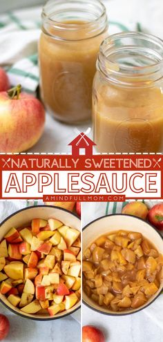 This warm side dish idea for kids will become a staple in your house! Nothing beats healthy homemade applesauce. Not only is it incredibly easy, but it is also naturally-sweetened and better-tasting than store-bought. Check out how you can freeze it for later! Easy Family Meals, Easy Meals, Tasty, Yummy Food, Yummy Recipes, Best Apple Recipes, Side Dish Recipes, Side Dishes, Homemade Applesauce